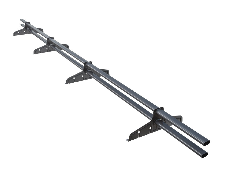 Снегозадержатель трубчатый плоскоовальный Русский рубеж 20х40 мм, L-3 м, 4 опоры для металлочерепицы RAL 5005 Синий насыщенный