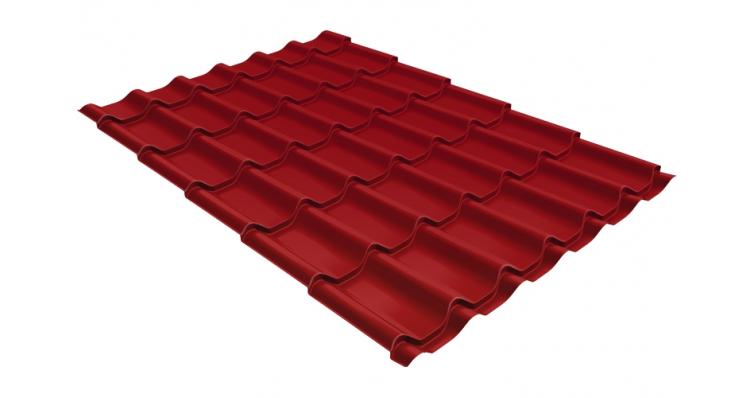 Металлочерепица Grand Line Classic 0,5 Satin RAL 3003 рубиново-красный