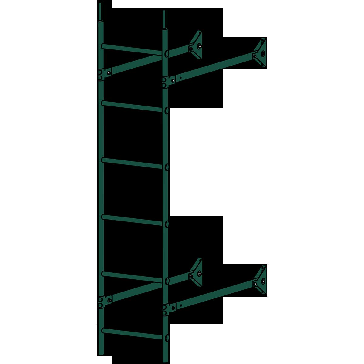 Лестница стеновая ROOFSYSTEMS ELITE 400 1,8 м RAL 6005 Зеленый мох