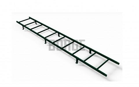 Лестница кровельная BORGE для металлочерепицы 3 м RAL 6005 Зеленый мох