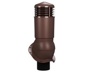 К-95 Вентиляционный выход ИЗОЛИРОВАННЫЙ (утепленный) D 125/110 мм Н 500 мм с переходником 125/110 мм RAL 8019