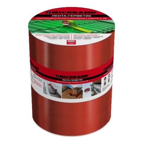 Лента герметизирующая Nicoband 10000х200 мм красная самоклеящаяся