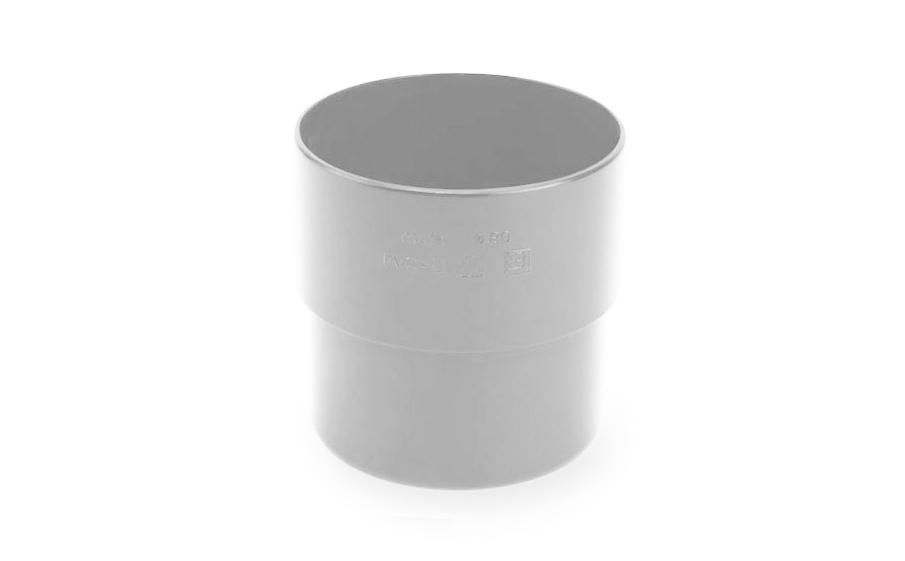 Соединитель трубы PVC Galeco 152/124-80 RAL 9010