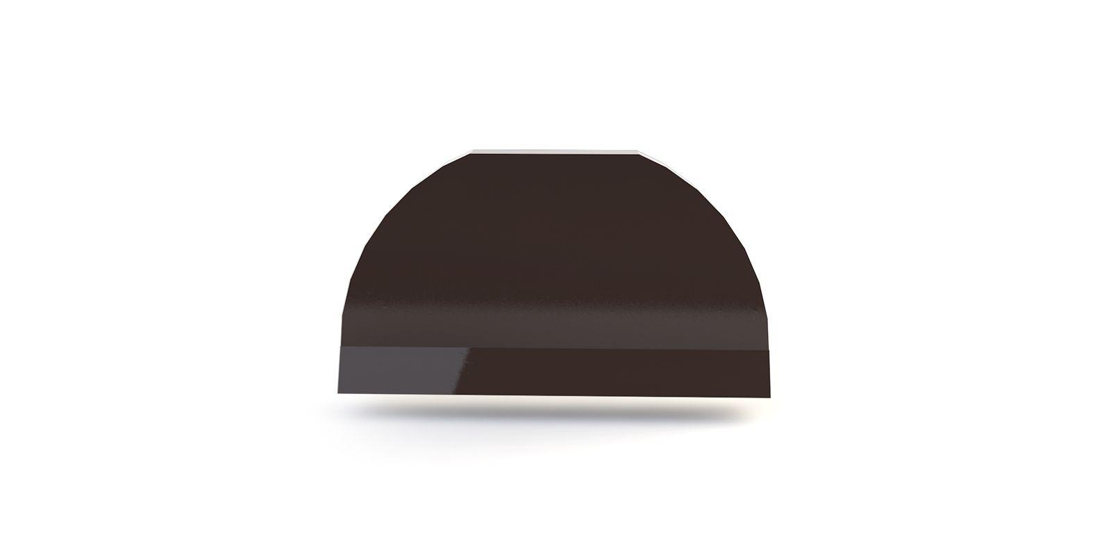 Заглушка полукруглого конька плоская