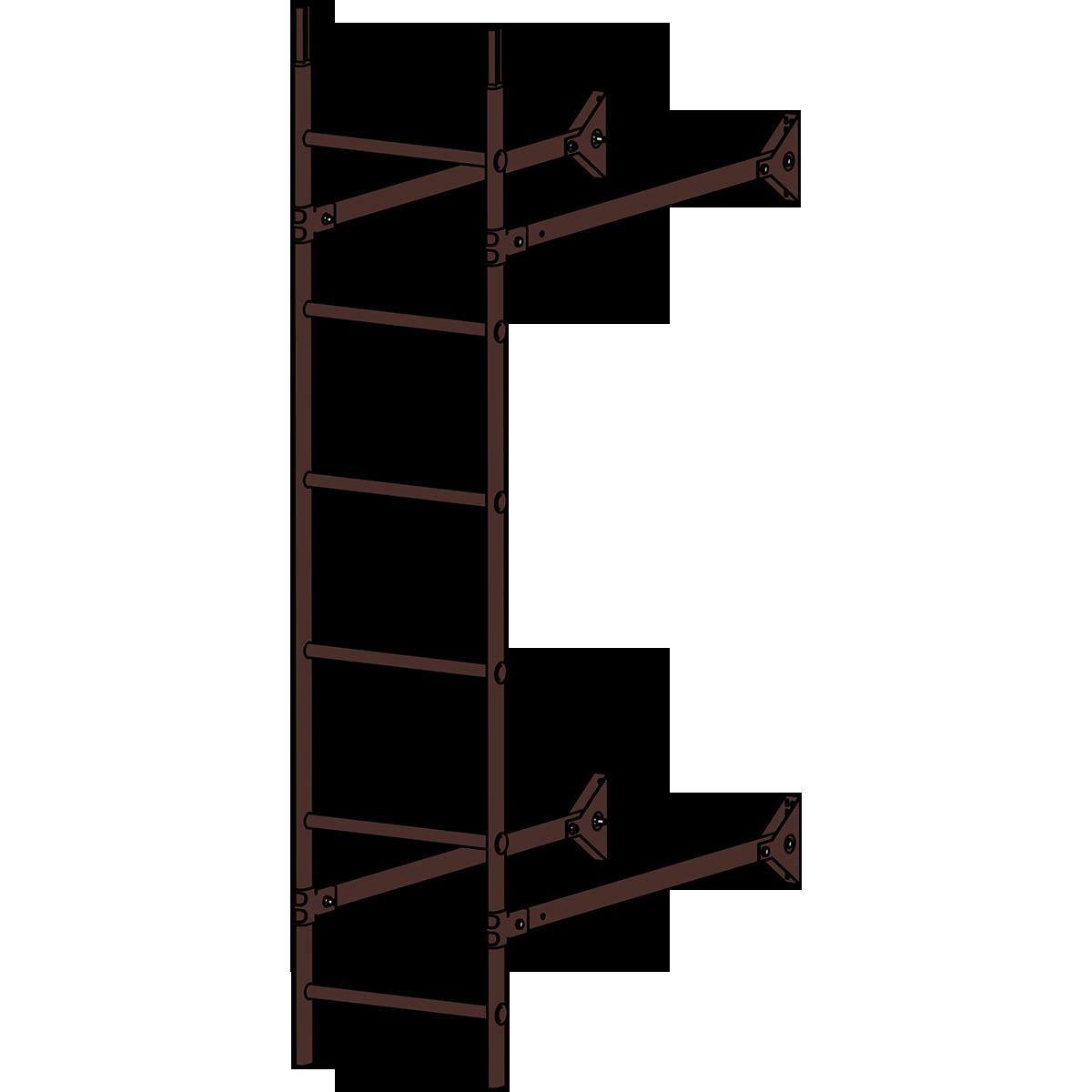 Лестница стеновая ROOFSYSTEMS ELITE 400 1,8 м RAL 8017 Коричневый шоколад
