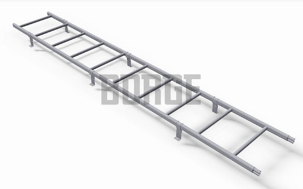 Лестница кровельная BORGE L - 3 м для металлочерепицы Цинк