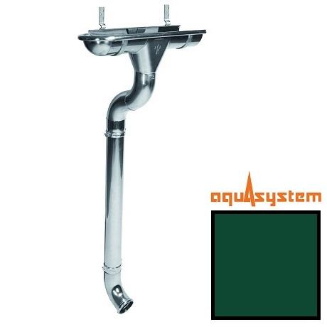Металлический водосток Aquasystem 125/90 RAL 6005 (зеленый мох)