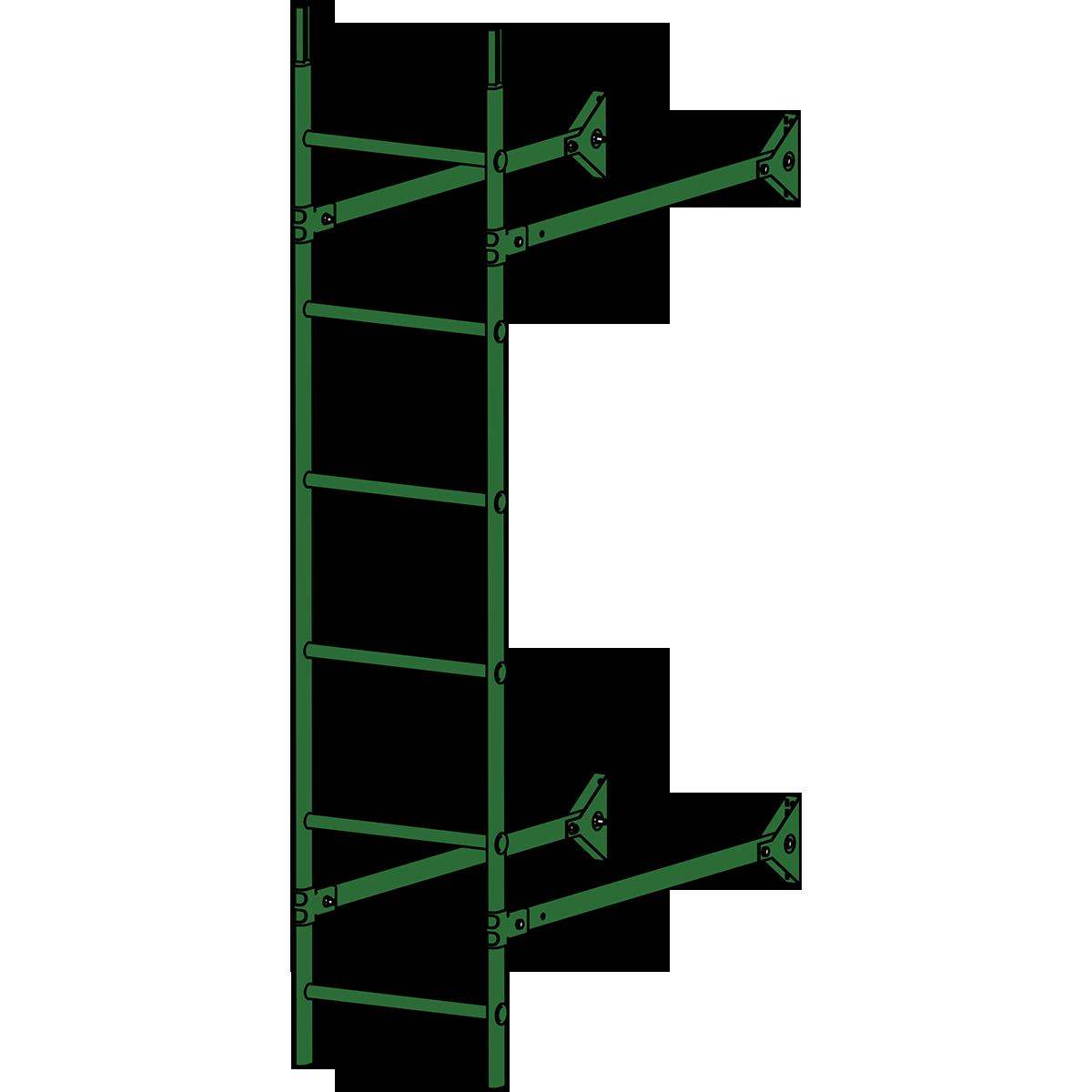 Лестница стеновая ROOFSYSTEMS ELITE 400 1,8 м RAL 6002 Зеленый лист