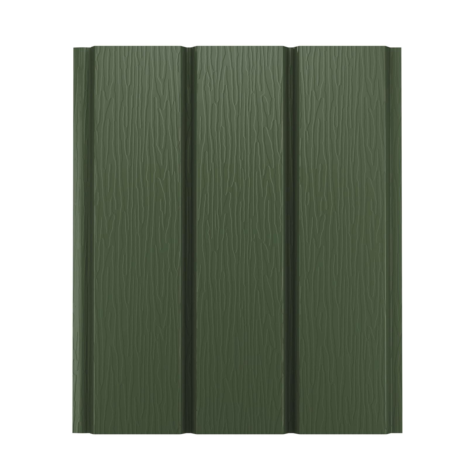 Софит металлический AquaSystem без перфорации Pural 275 г/м2, 2,4 м темно-зеленый RR 11