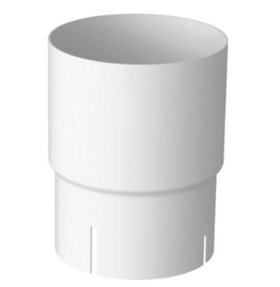Соединитель трубы 120/100 RAL 9003 (Алюминий)