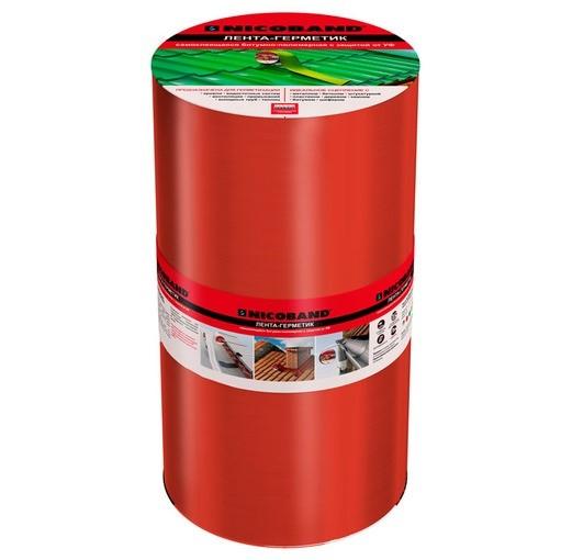 Лента герметизирующая Nicoband 10000х300 мм красная самоклеящаяся
