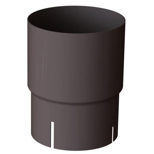 Соединитель трубы 150/100 RAL 8019 (Алюминий)