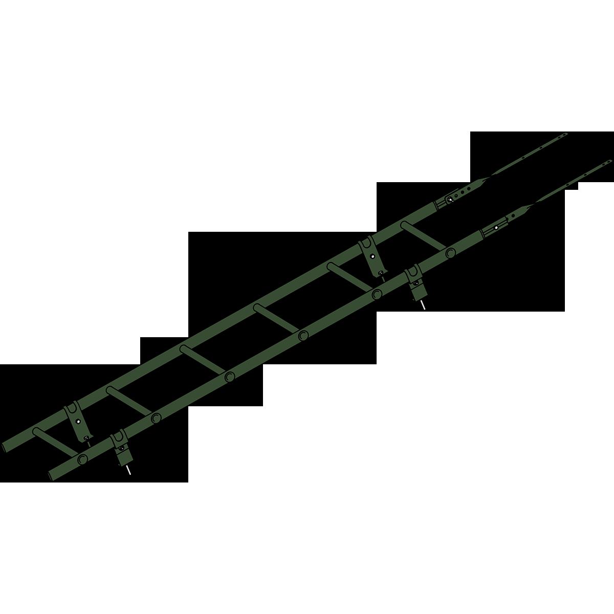 Лестница кровельная ROOFSYSTEMS PRESTIGE ZN 45х25 (овал) 400 унивеpсальная 1,2 м RAL 6020 Зеленый хром