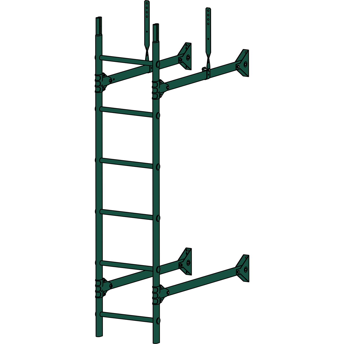 Лестница стеновая ROOFSYSTEMS PRESTIGE ZN 3м RAL 6005 Зеленый мох
